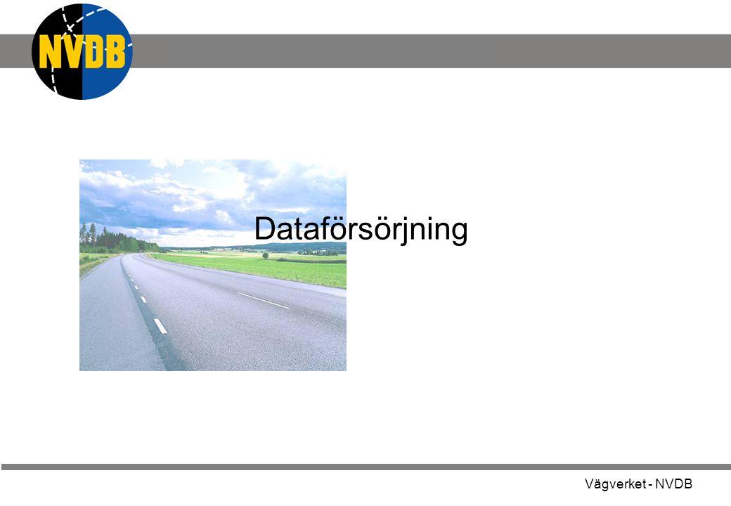 Vägverket - NVDB Dataförsörjning