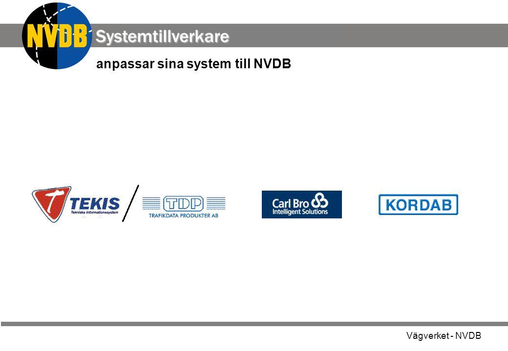 Systemtillverkare anpassar sina system till NVDB