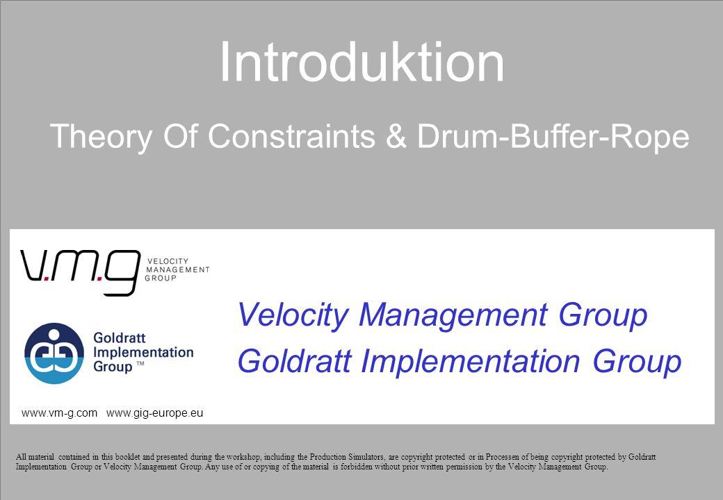 Page 32 © GIG-Europe / VMG 2007 Simulering #3 – Drum-Buffer-Rope