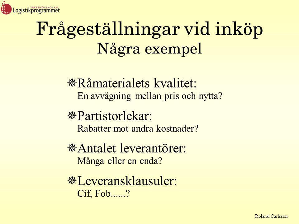 Roland Carlsson Problemet tillverka - utveckla Internt eller externt.