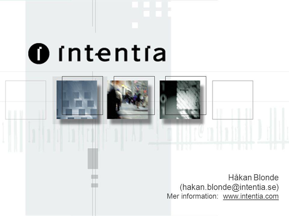 www.intentia.com EMU Opening Meeting 23 Håkan Blonde (hakan.blonde@intentia.se) Mer information: www.intentia.comwww.intentia.com