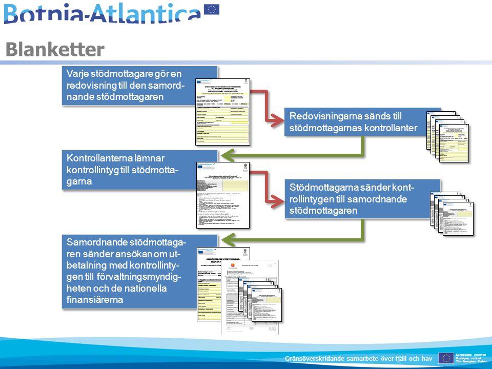 Blanketter Europeiska unionen Euroopan unioni The European Union Gränsöverskridande samarbete över fjäll och hav