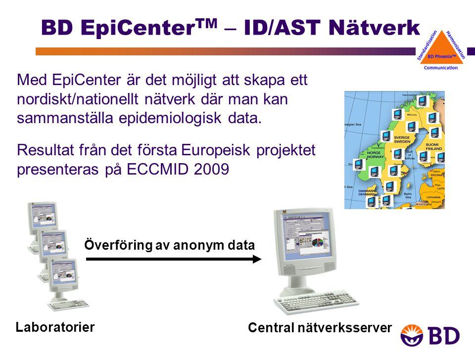 Med EpiCenter är det möjligt att skapa ett nordiskt/nationellt nätverk där man kan sammanställa epidemiologisk data.