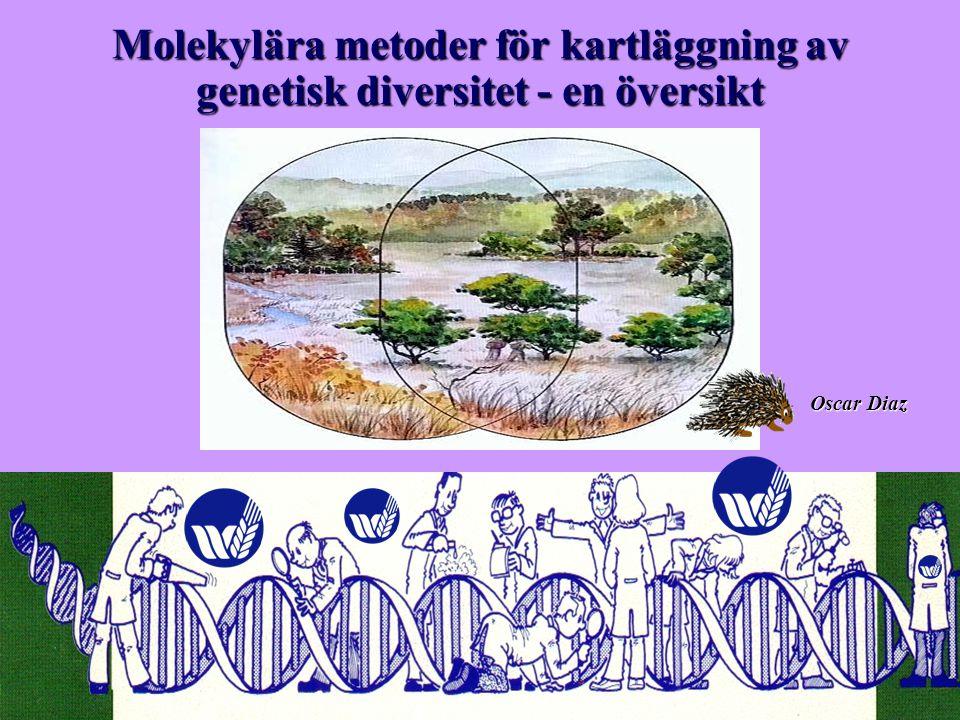 Oscar Díaz Molekylära metoder för kartläggning av genetisk diversitet - en översikt Oscar Diaz