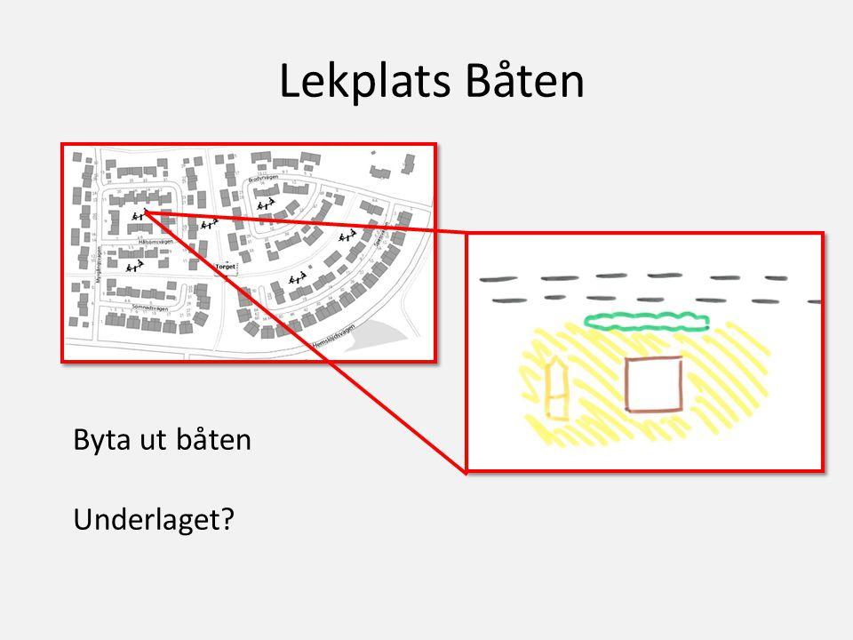 Lekplats Båten Byta ut båten Underlaget