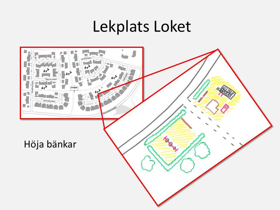 Lekplats Loket Höja bänkar