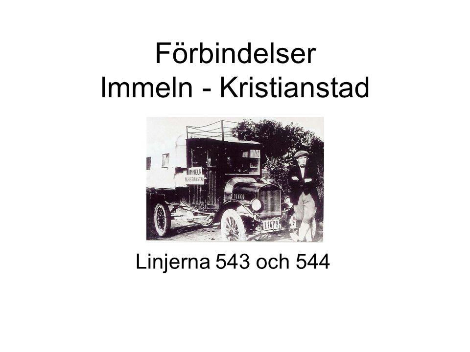 Förbindelser Immeln - Kristianstad Linjerna 543 och 544