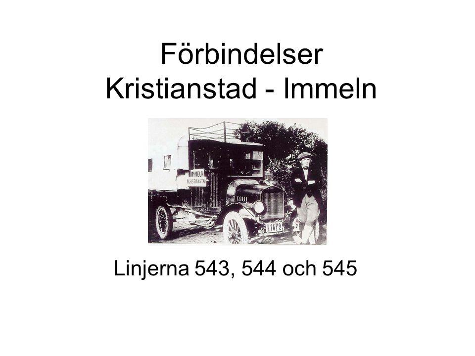 Förbindelser Kristianstad - Immeln Linjerna 543, 544 och 545