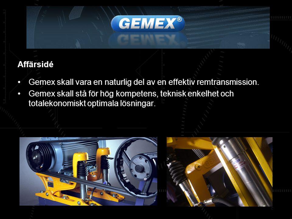 Gemex ger högeffektiva remtransmissioner med enkelt underhåll Gemex består av två huvudkomponenter: En ledad konsol, på vilken motorn är monterad.