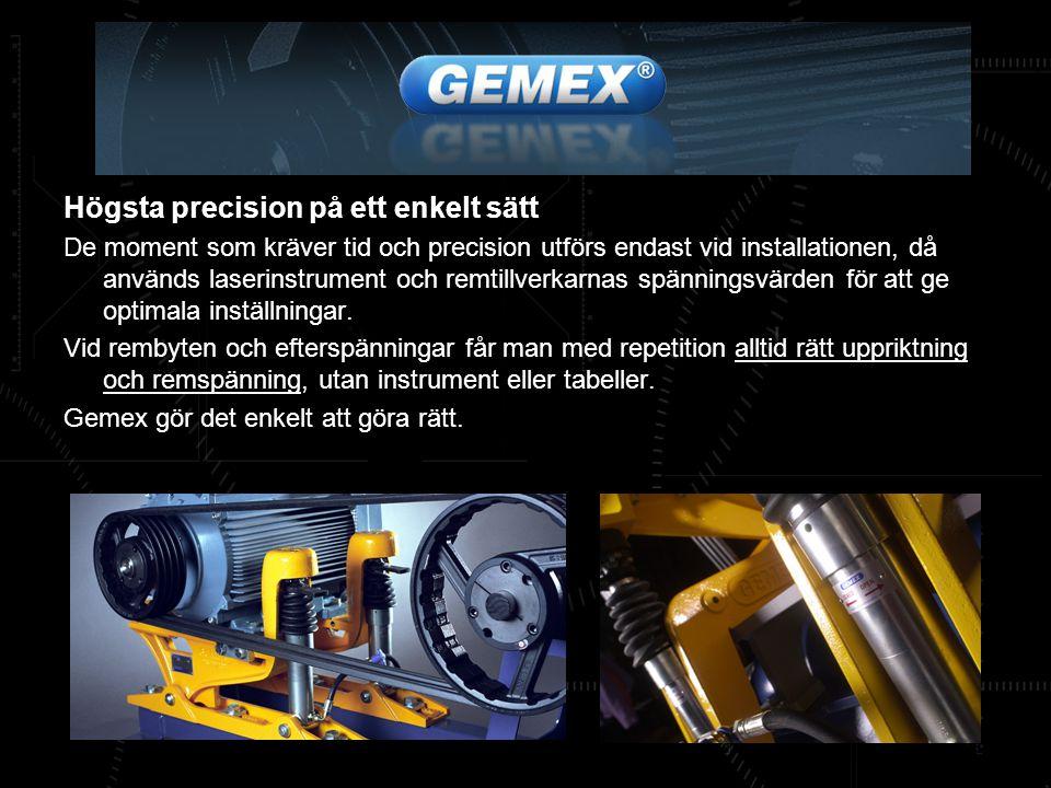 Gemex Transmission En bra remtransmission är mer än en motorhylla, vi kan leverera en helhetslösning som vi kallar Gemex Transmission.
