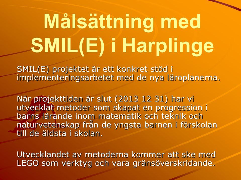 Målsättning med SMIL(E) i Harplinge SMIL(E) projektet är ett konkret stöd i implementeringsarbetet med de nya läroplanerna. När projekttiden är slut (