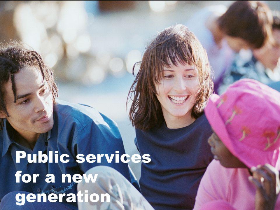 Samverkan för framtidens gymnasieskola tar form Halvårsrapport 2012 Public services for a new generation