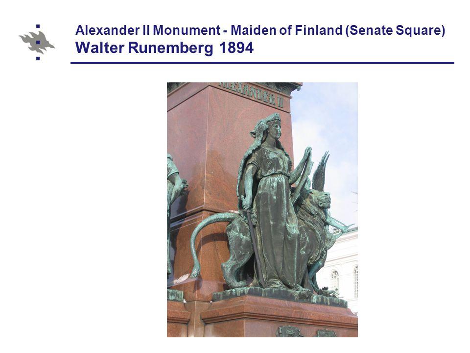 Alexander II Monument - Maiden of Finland (Senate Square) Walter Runemberg 1894