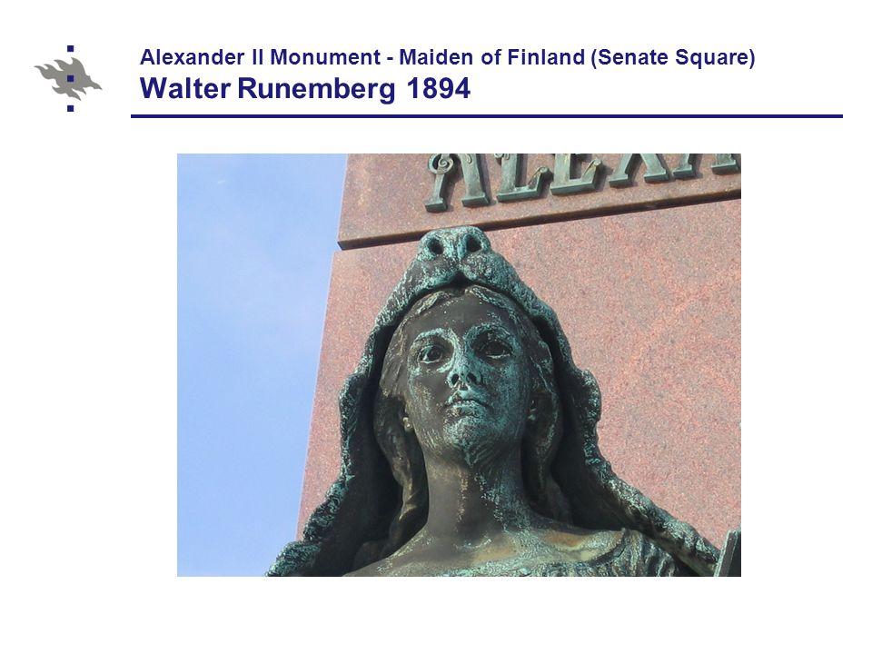 Johan Ludvig Runeberg's Monument (Esplanadi) Walter Runeberg 1885