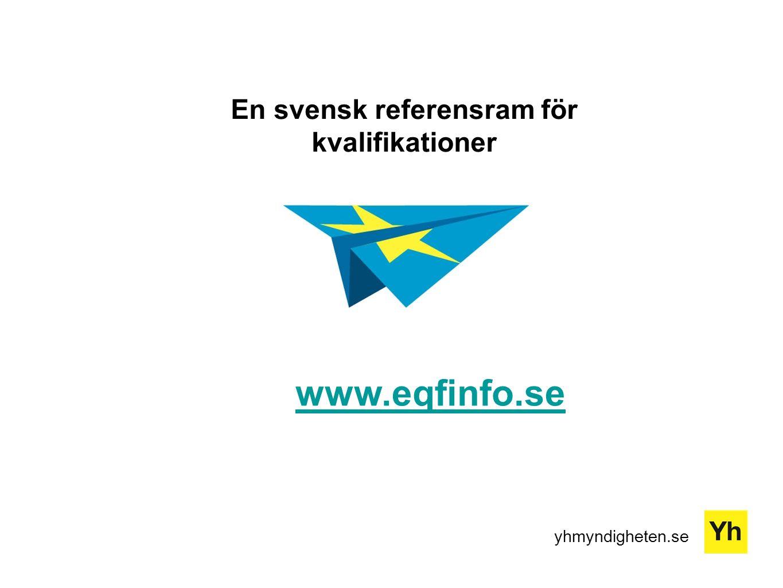 yhmyndigheten.se En svensk referensram för kvalifikationer www.eqfinfo.se