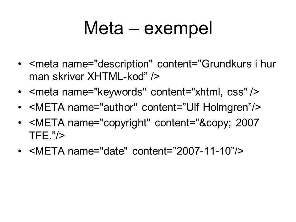 Meta – exempel
