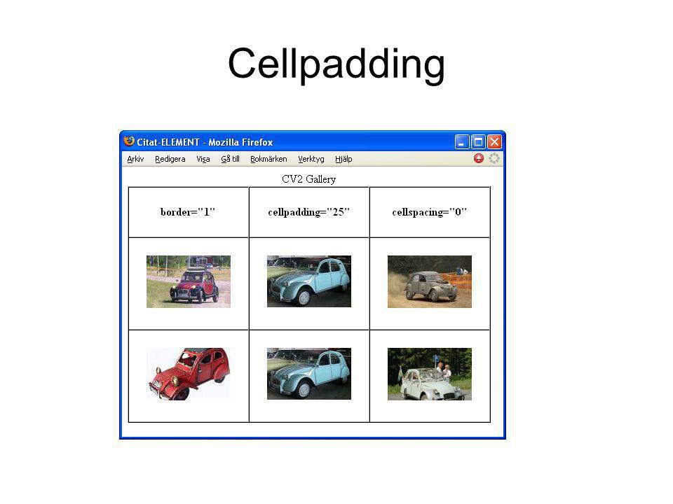 Cellpadding