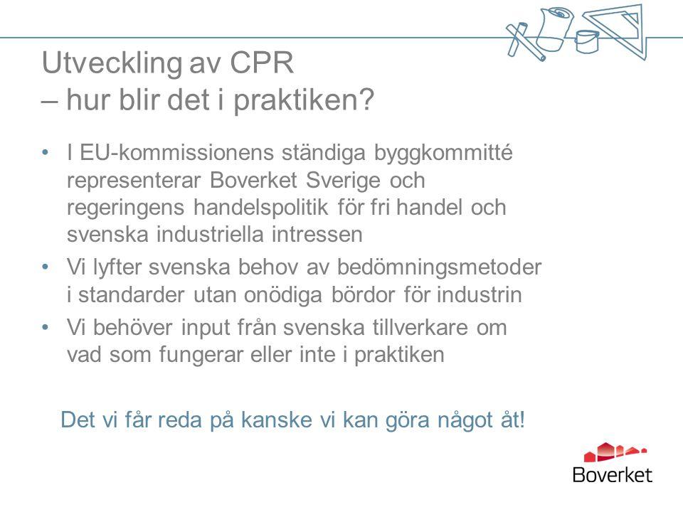 Utveckling av CPR – hur blir det i praktiken.