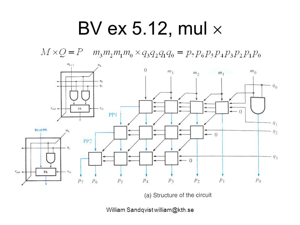 BV ex 5.12, mul  William Sandqvist william@kth.se