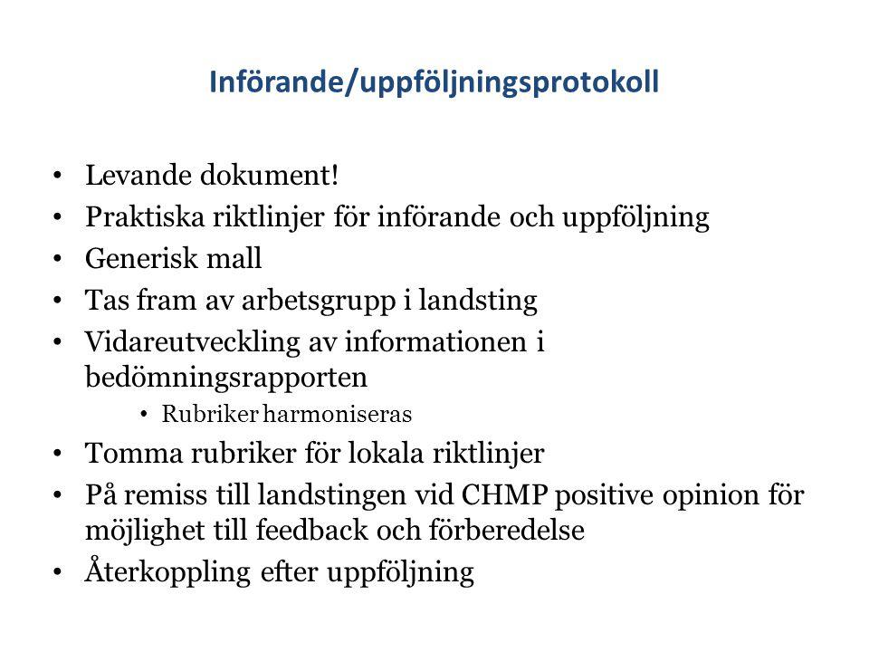 Införande/uppföljningsprotokoll Levande dokument.