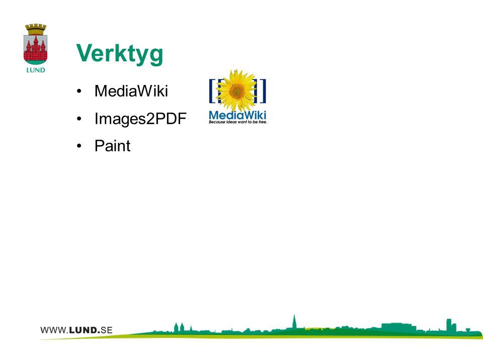 Verktyg MediaWiki Images2PDF Paint