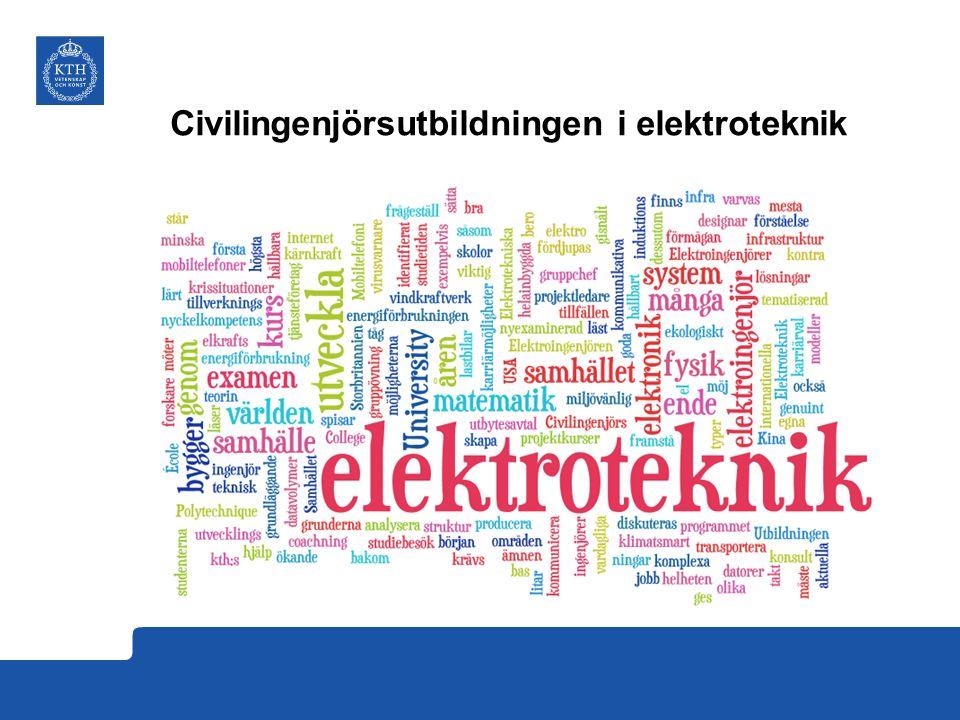 Civilingenjörsutbildningen i elektroteknik