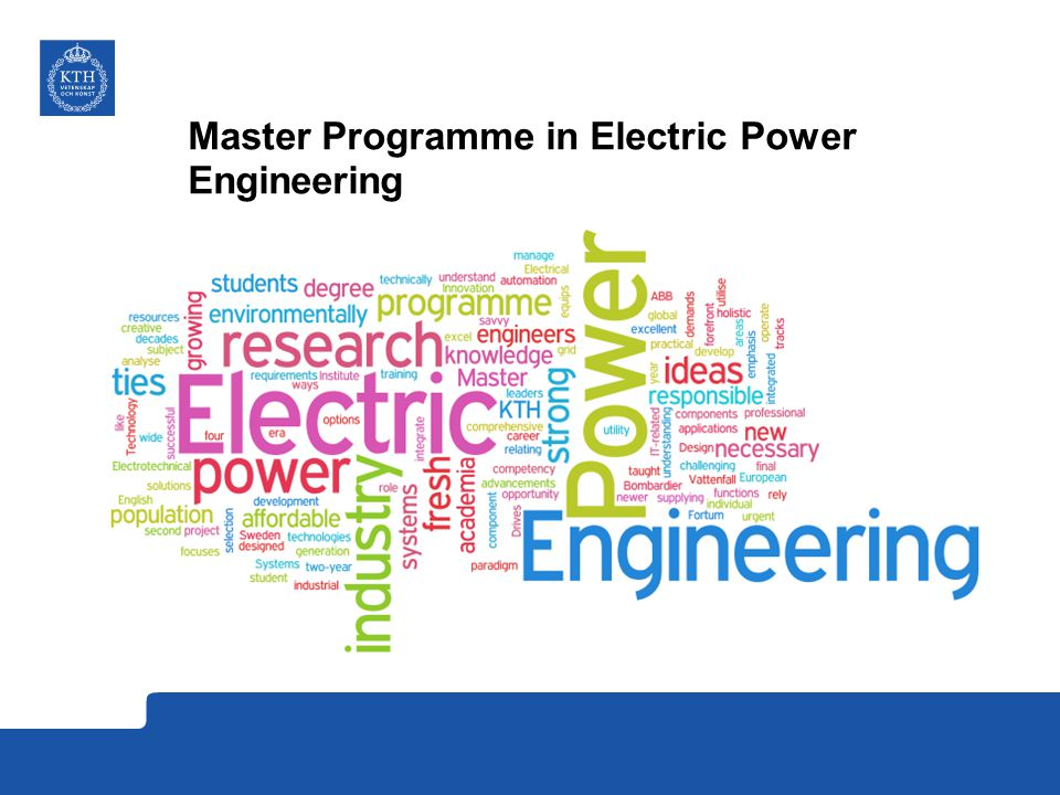 Master Programme in Electric Power Engineering