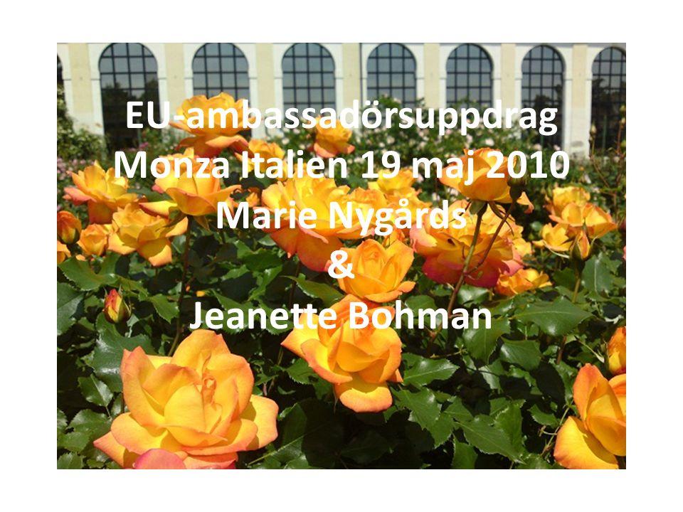 EU-ambassadörsuppdrag Monza Italien 19 maj 2010 Marie Nygårds & Jeanette Bohman