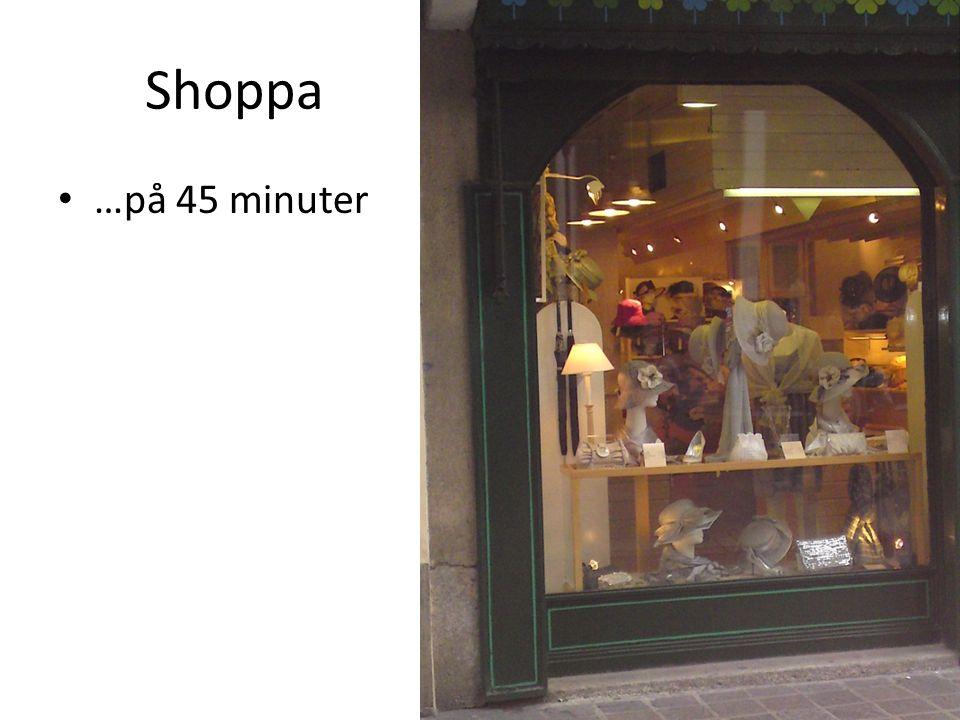 Shoppa …på 45 minuter