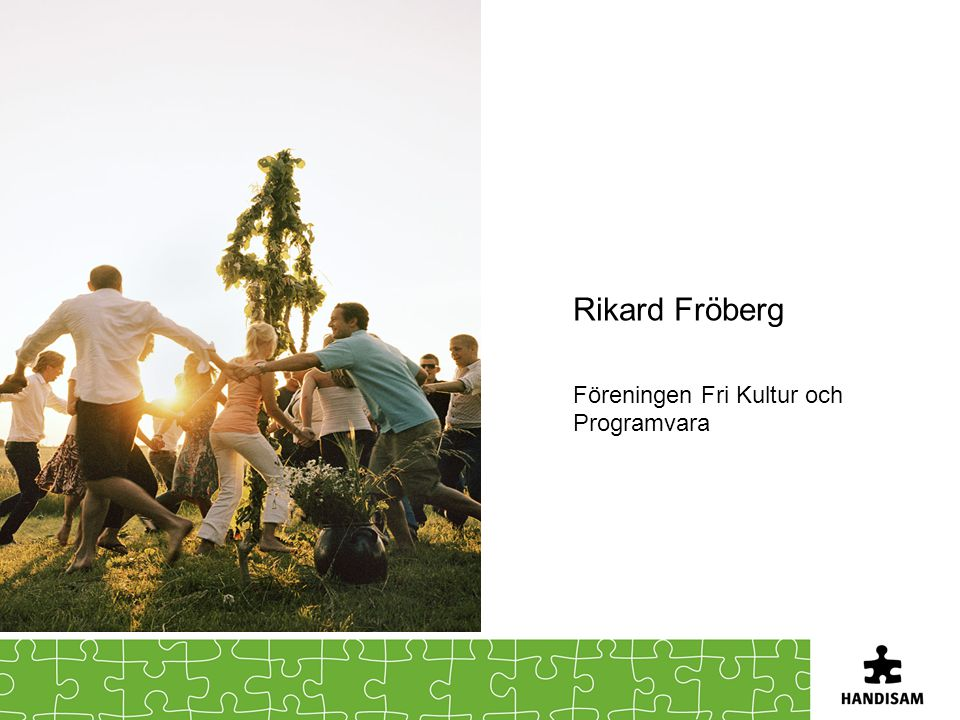 Rikard Fröberg Föreningen Fri Kultur och Programvara