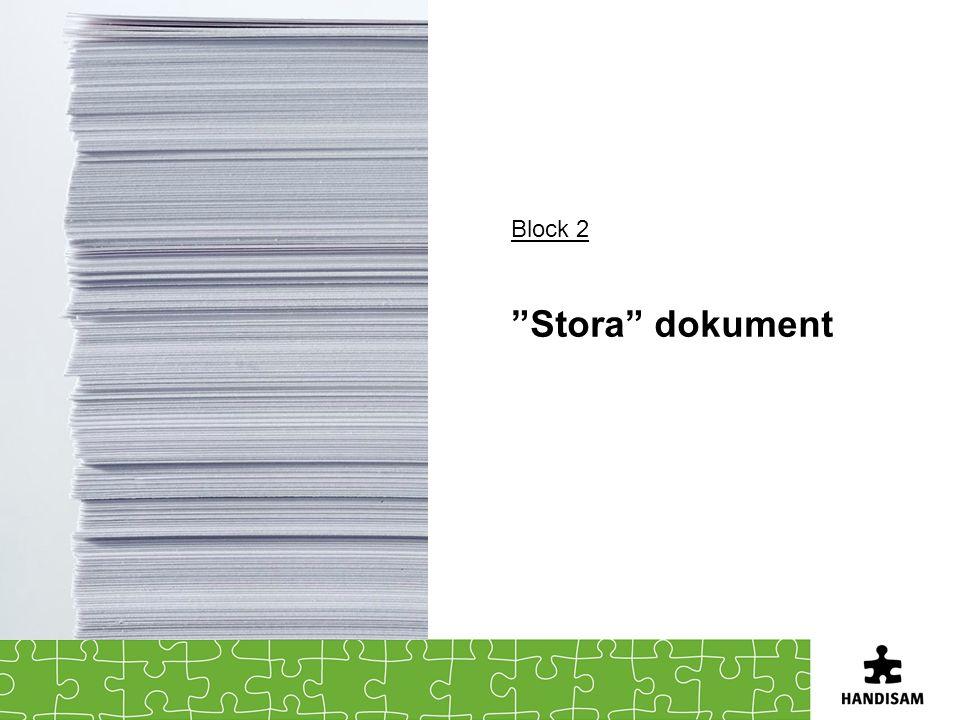"Block 2 ""Stora"" dokument"