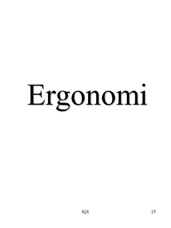 KjS25 Ergonomi