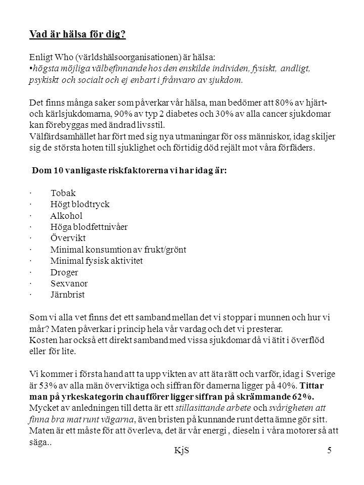 KjS36 Fördjupning - Sifferfakta/statistik - Tips och råd - Övningar - Länkar