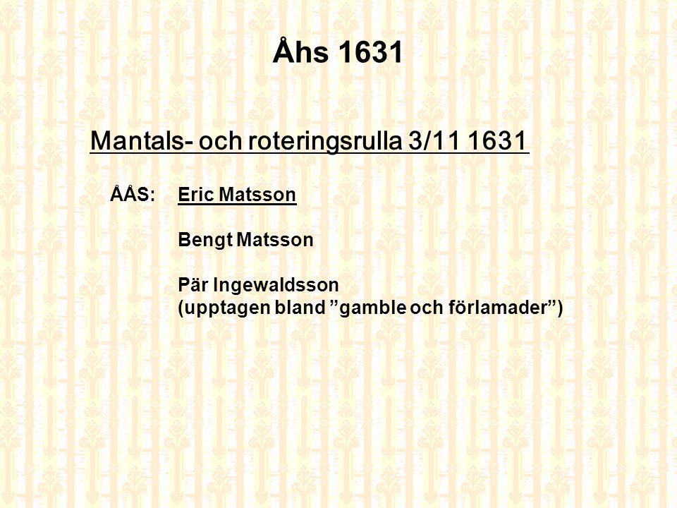 BOSKAPSLÄNGD 1641 Ås by, Österfärnebo Nedanstående anteckningar hämtade ur Boskapslängden för Ås by i Österfärnebo år 1641 visar att fastigheten Ås 4 var en stor gård redan på tidigt 1600-tal.