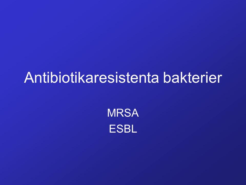 Antibiotikaresistenta bakterier MRSA ESBL