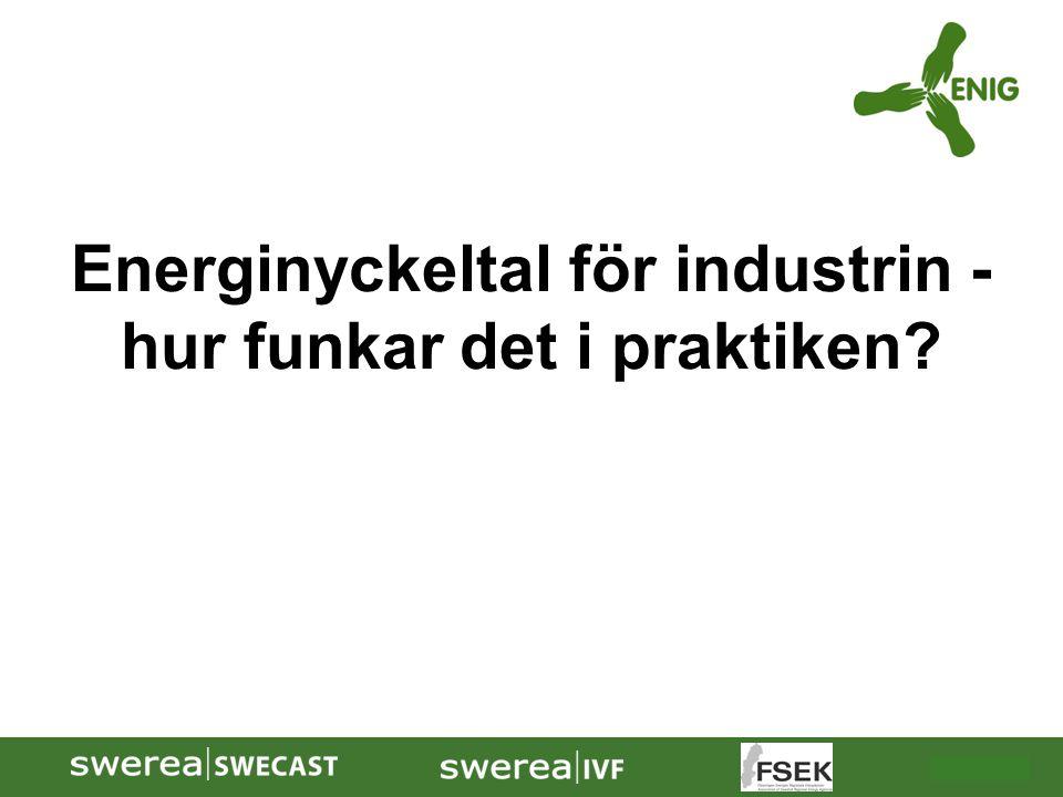 2009-10-08 Energinyckeltal för industrin - hur funkar det i praktiken?
