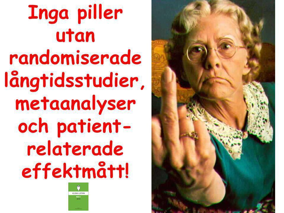 Inga piller utan randomiserade långtidsstudier, metaanalyser och patient- relaterade effektmått!