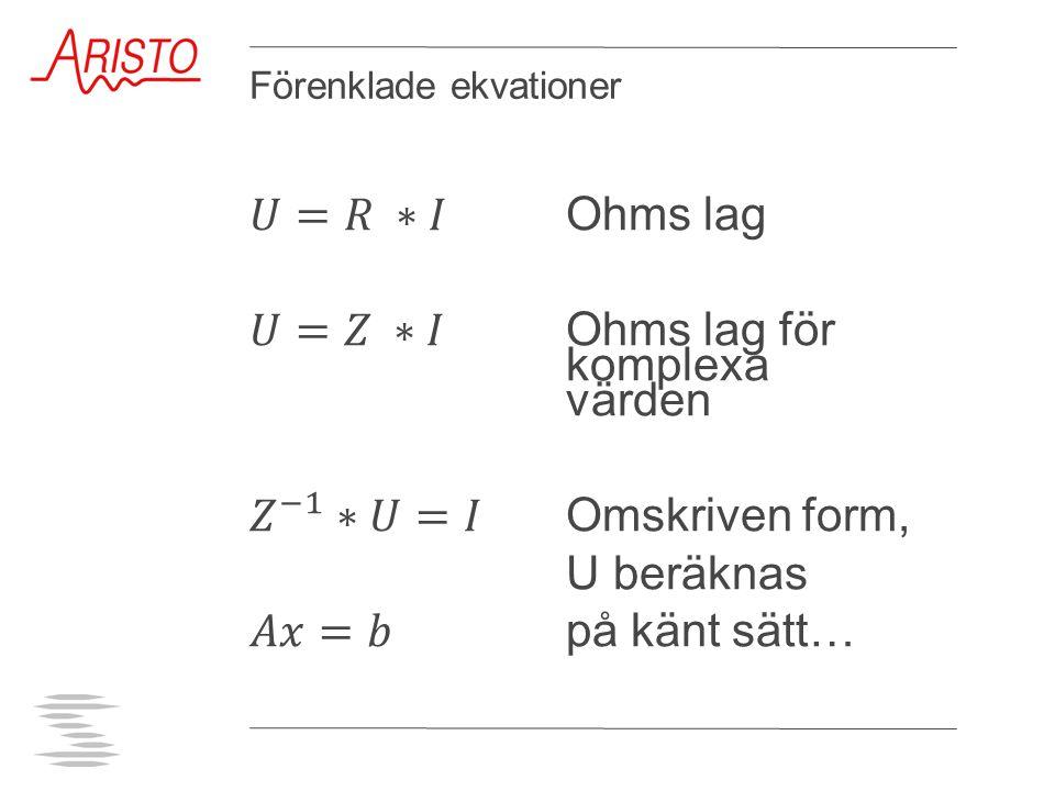 Förenklade ekvationer