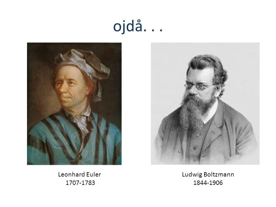 Leonhard Euler 1707-1783 Ludwig Boltzmann 1844-1906 ojdå...
