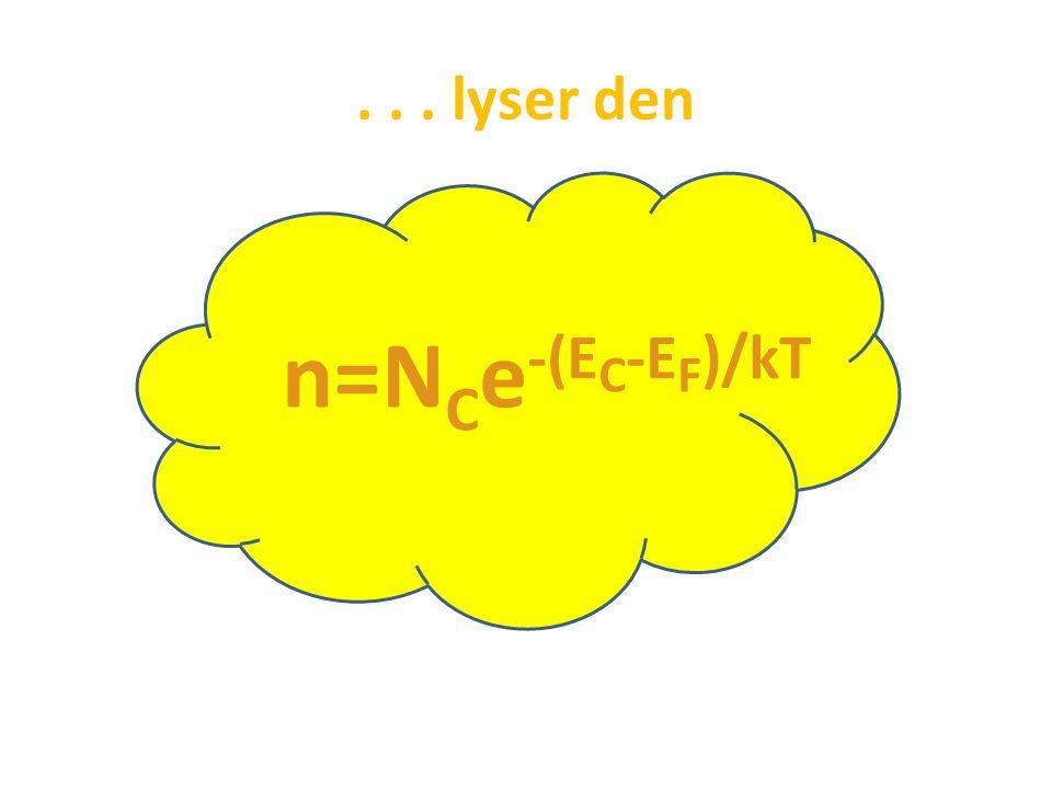 ... lyser den n=N C e -(E C -E F )/kT