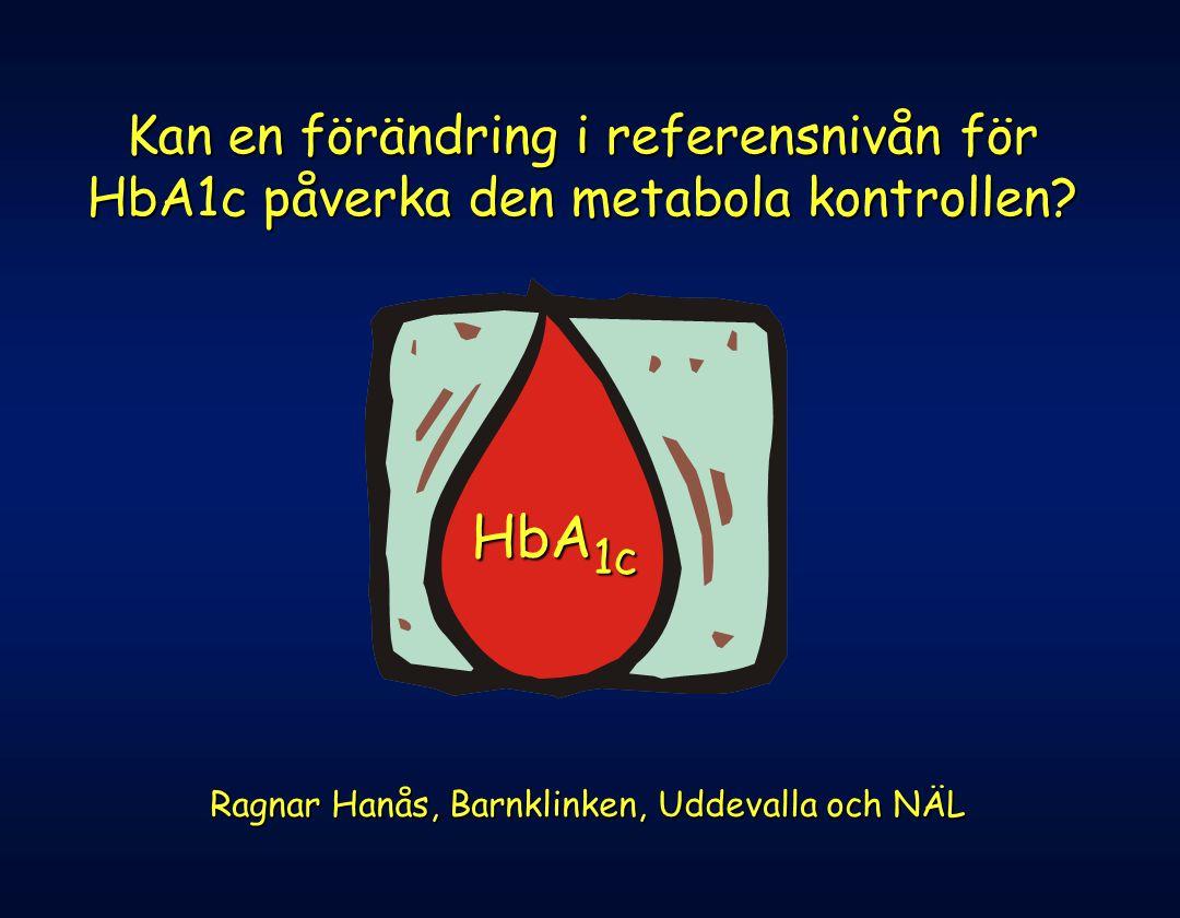 Kan en förändring i referensnivån för HbA1c påverka den metabola kontrollen? HbA 1c Ragnar Hanås, Barnklinken, Uddevalla och NÄL