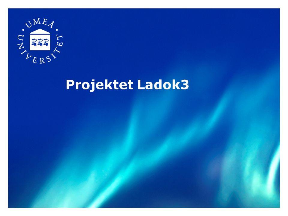 Ladok3-projektets beställarorganisation Ladokförvaltningen Ladokkonsortiet stämma 38 lärosäten samt CSN Styrelse Förvaltningsledning Ladok3:s styrgrupp Projekt Ladok3-projektet