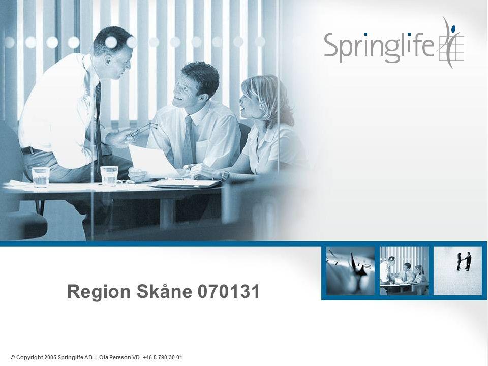 Region Skåne 070131 © Copyright 2005 Springlife AB | Ola Persson VD +46 8 790 30 01