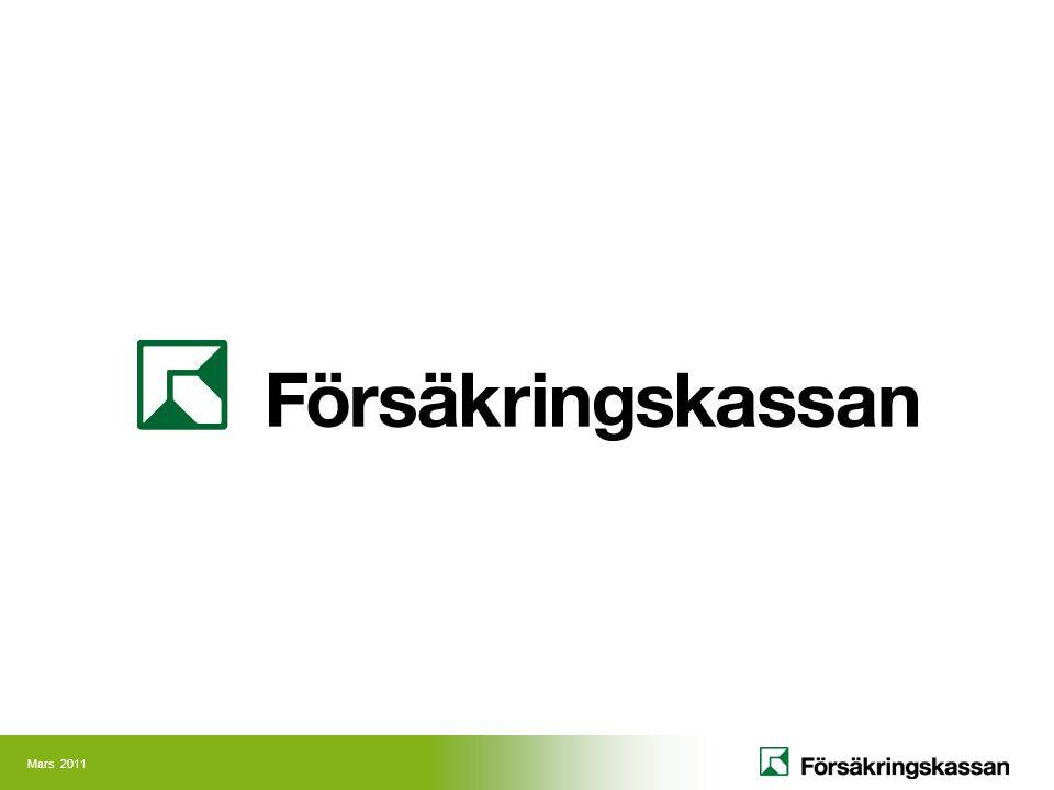 Administrerar försäkringar och bidrag som ingår i socialförsäkringen Fattar 19 miljoner beslut per år varav 8,5 miljoner beslut avser tandvård Gör 54 miljoner utbetalningar per år (inklusive pensionsutbetalningar) Utgifterna utgör knappt 7 procent av BNP 15 nationella och 53 lokala försäkringscenter 5 kundcenter för privatpersoner och partners Cirka 140 servicekontor/lokala kontor Cirka 125 serviceplatser Huvudkontor i Stockholm Cirka 12 900 anställda Försäkringskassan