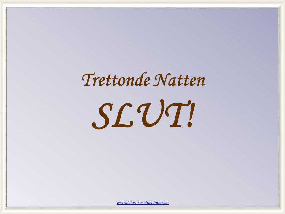 www.islamforelasningar.se Trettonde Natten SLUT!