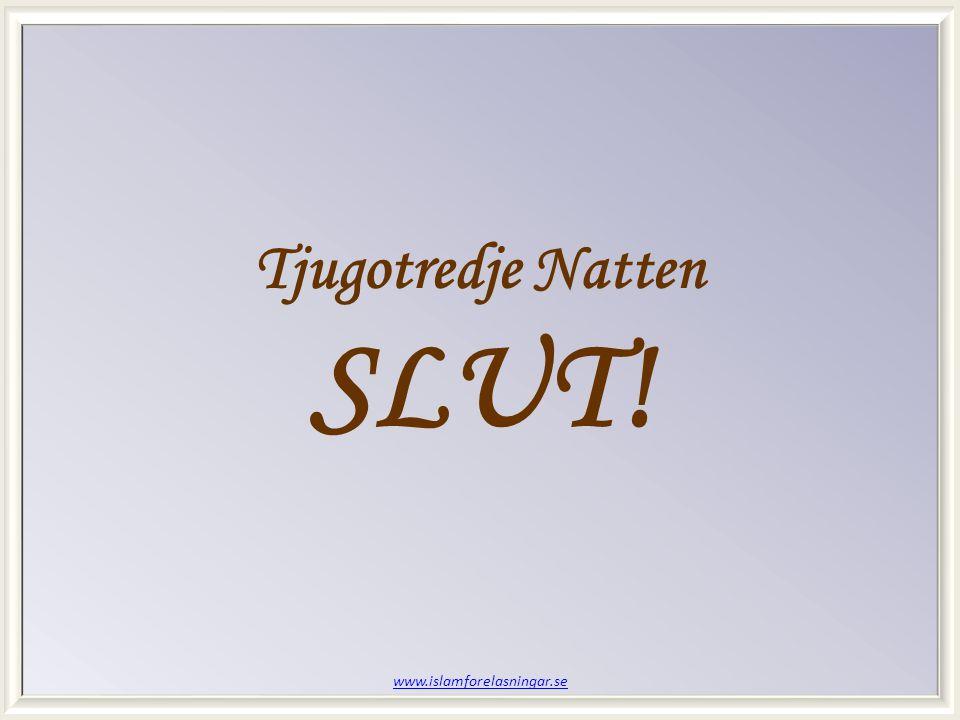 www.islamforelasningar.se Tjugotredje Natten SLUT!