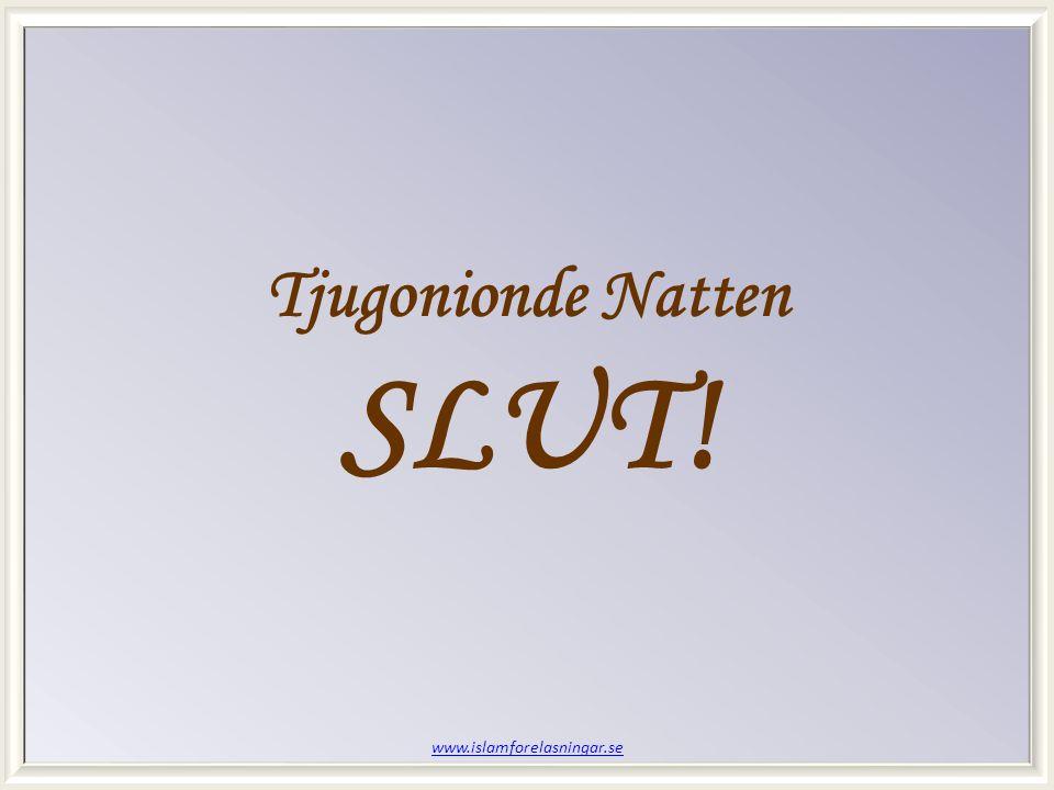 www.islamforelasningar.se Tjugonionde Natten SLUT!
