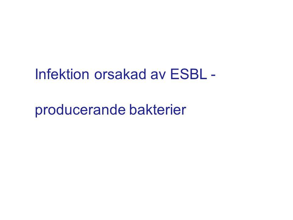 Infektion orsakad av ESBL - producerande bakterier