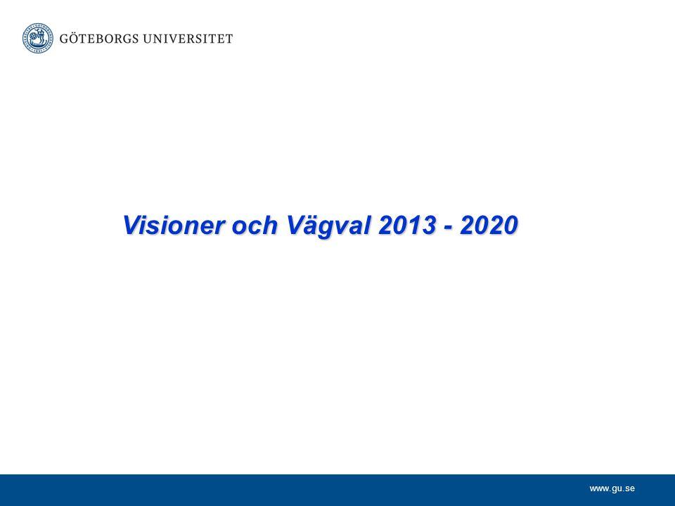 www.gu.se Visioner och Vägval 2013 - 2020