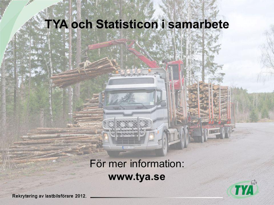 Rekrytering av lastbilsförare 2012.